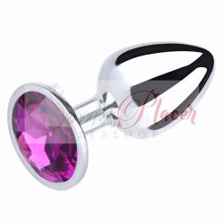 Plug Metalico con Diamante