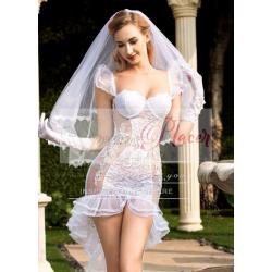 vestido de novia encaje con transparencia